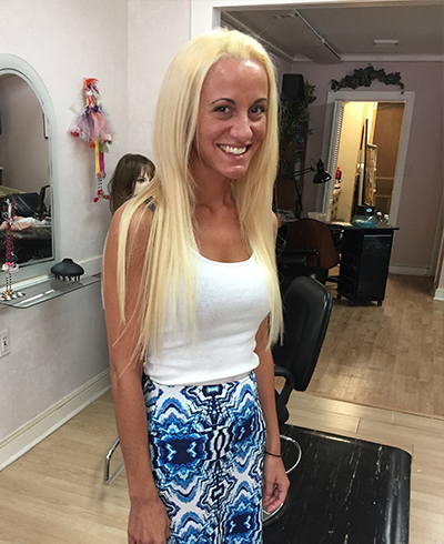 Woman With Hair Extensions