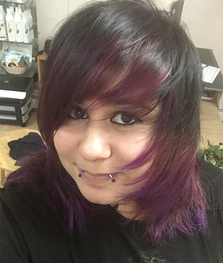 Black and Purple Hair
